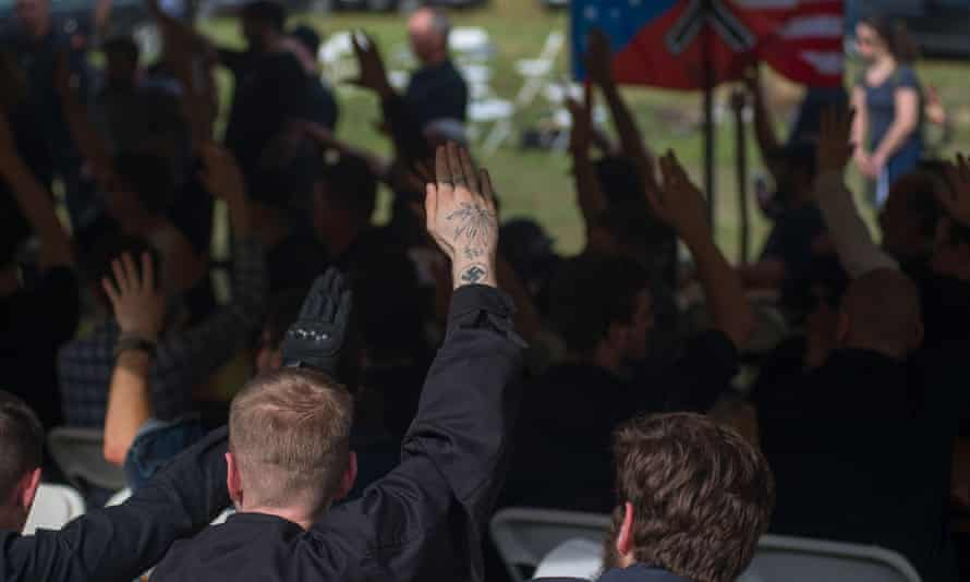 Members of the KKK, the Traditionalist Worker party and the National Socialist Movement gathered for a weekend of speeches, demonstration and fellowship at a private campground in Whitesburg, Kentucky.
