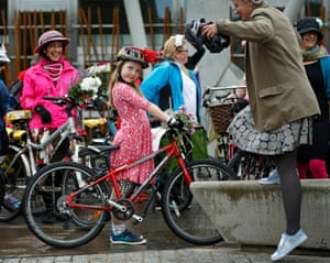 Edinburgh, UKThe Fancy Women Bike Ride is a short ride - the dress code is 'fierce and fabulous'. The idea has spread from a single ride in Izmir in Turkey in 2013 to a worldwide movement taking place in over 100 cities