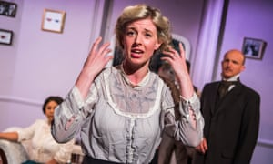 Philippa Quinn as Georgiana Vicary in Just to Get Married by Cicely Hamilton, directed by Melissa Dunne.
