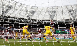 West Ham United's Pablo Fornals (centre) opens the scoring.