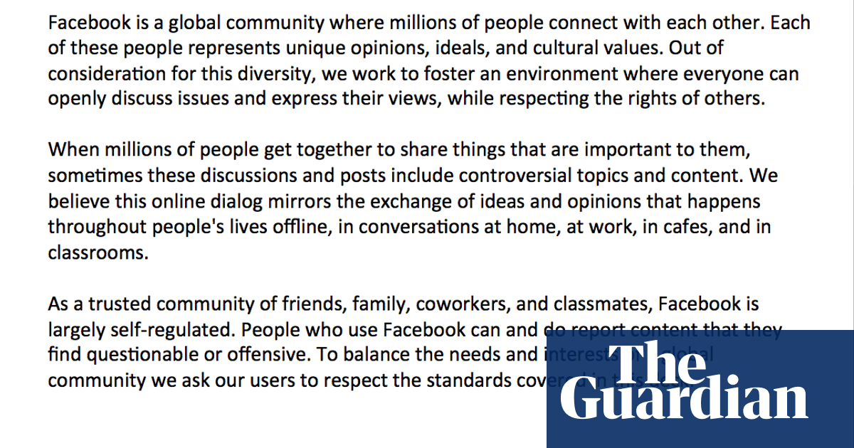 Facebook's manual on credible threats of violence | News