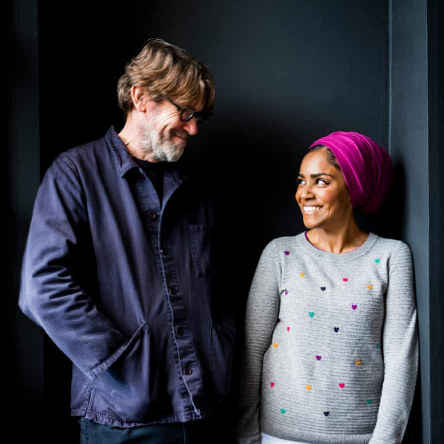 Nigel Slater and Nadiya Hussain photographed at Nigel's home for OFM in January 2020.