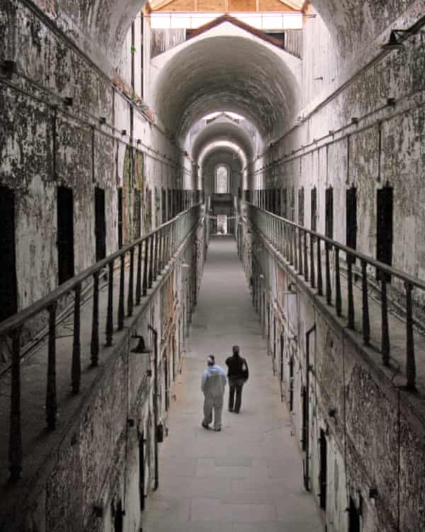 The interior of Eastern State Penitentiary in Philadelphia, Pennsylvania.