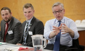 The NFU's Next Generation Forum meets Michael Gove, the environment secretary, in 2017