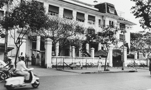 The former navy exchange pictured in 1965. It was later converted into a hotel before being knocked down in 2010 and replaced with the 24-storey Léman Luxury Apartments building