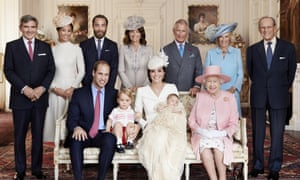 The royal family after the christening.