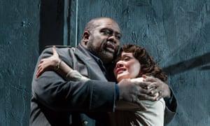 Ronald Samm and Elena Kelessidi in Opera North's Otello from 2013