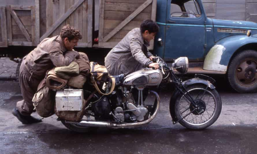 A scene from The Motorcycle Diaries, a 2004 dramatisation of Che Guevara's road trip through Latin America on a Norton 500