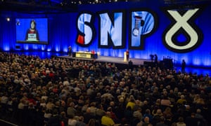 The SNP conference in Glasgow. A survey suggests most English Tory voters would be happy to see Scotland go independent as the price for Brexit