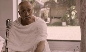 Jesus Sans as Gandhi in The Gandhi Murder.