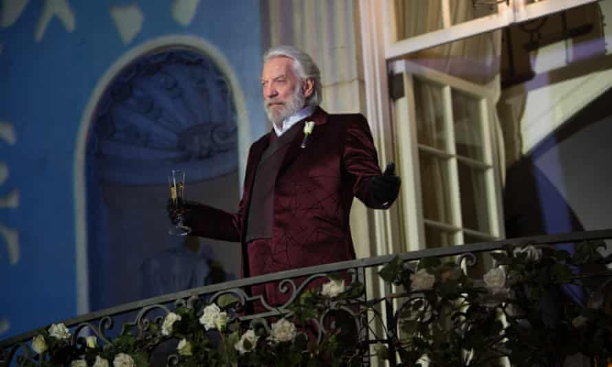 Corrupting influence … Donald Sutherland as President Snow in a scene from The Hunger Games: Catching Fire.