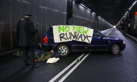 Rising Up! activists block Heathrow road tunnel