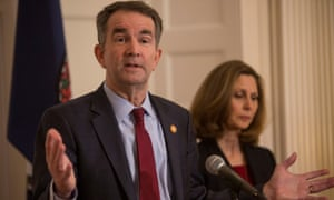 Ralph Northam, accompanied by his wife Pamela Northam, announces he will not resign.