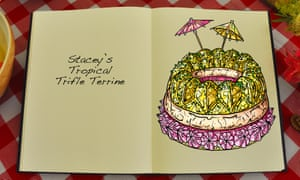 Stacey's Tropical Trifle Terrine, an illustration for the Great British Bake Off creation by Tom Hove.