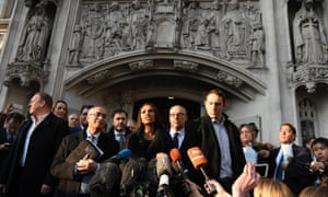 Gina Miller, the lead claimant in the article 50 case, delivers a statement to journalists outside the supreme court in London on Tuesday