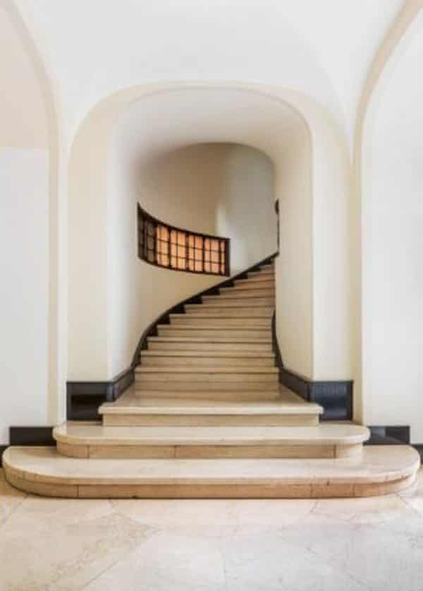a staircase in the palazzo sola busca by aldo andreani
