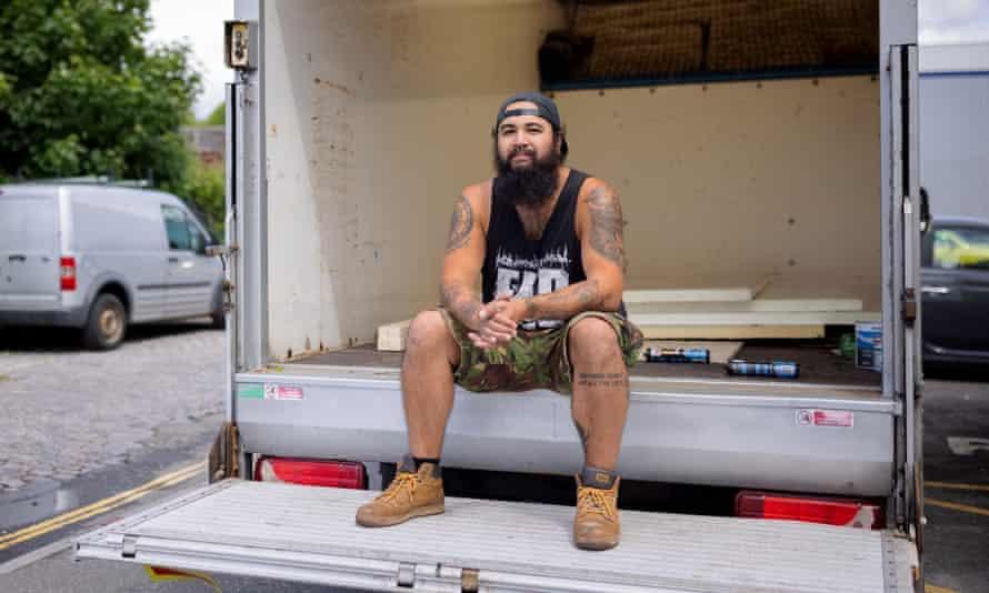 Stef with his Mercedes van
