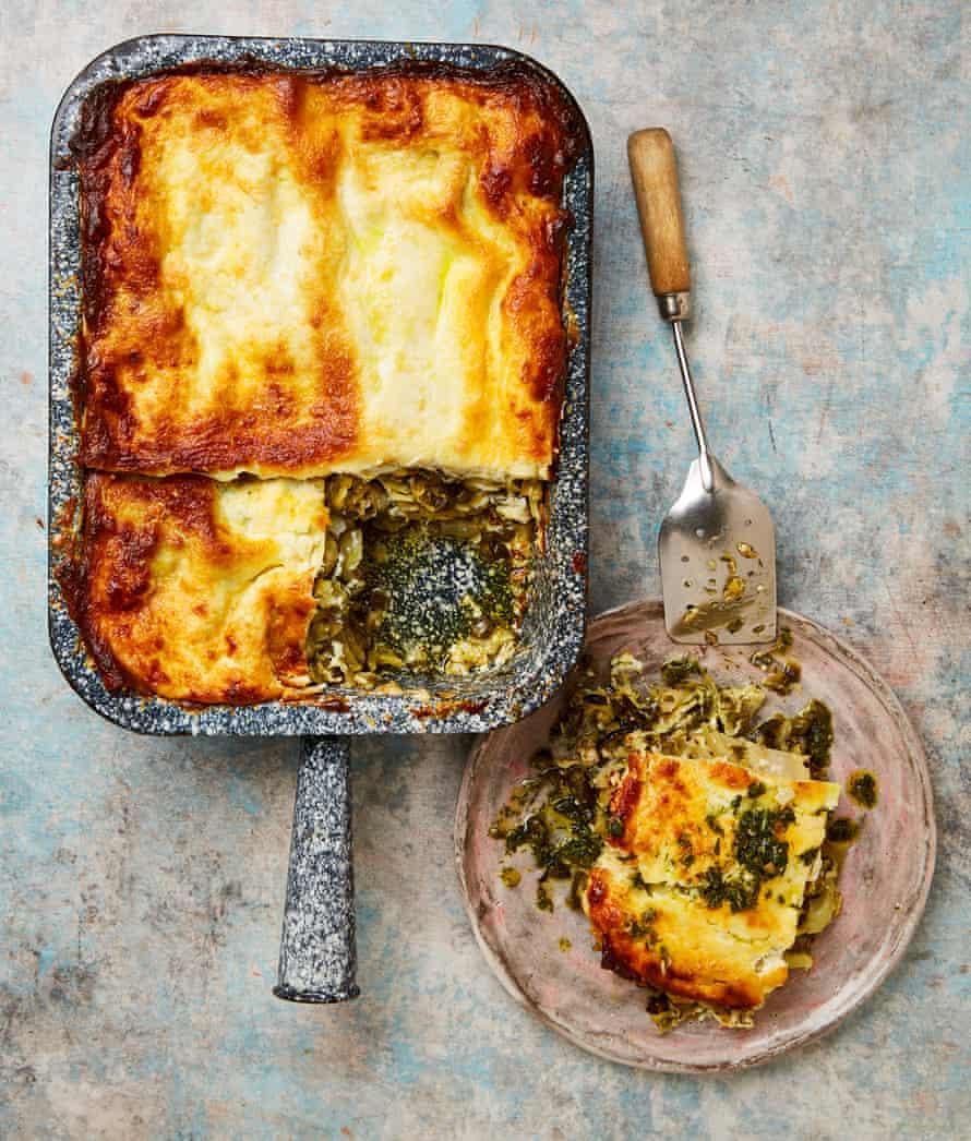 Yotam Ottolenghi's courgette and fennel lasagne.