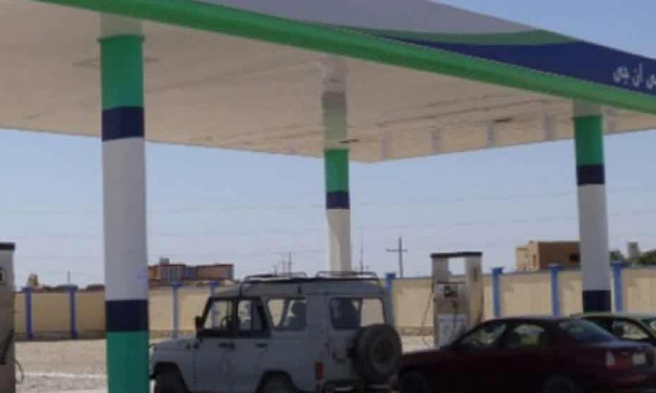 Petrol station in Sheberghan, Afghanistan that cost American taxpayers $43m.