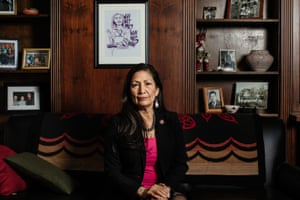 Deb Haaland: 'I'll be fierce for all of us, for our planet, and all of our protected land.'
