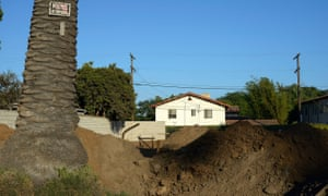The site of Frank Gehrys future family home in Venice, California