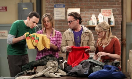 Some of the cast from the Big Bang Theory - Jim Parsons, Kaley Cuoco, Johnny Galecki and Melissa Rauch
