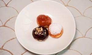 'Moment of joy': a trio of doughnuts.