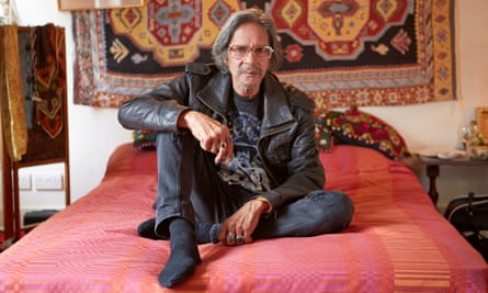 Leon Hendrix sitting in the flat in which his brother, Jimi, first lived when he moved to London 50 years ago.