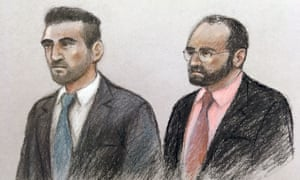 Vincent Tappu (left) and Mujahid Arshid in the dock of the Old Bailey, London.