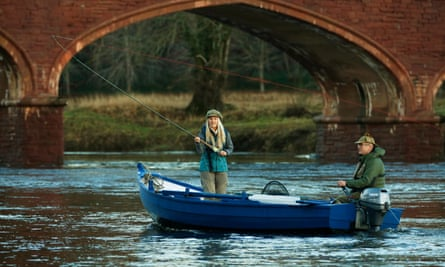 Angler Marina Gibson with Claire Mercer Nairn on the Tay in Perth.