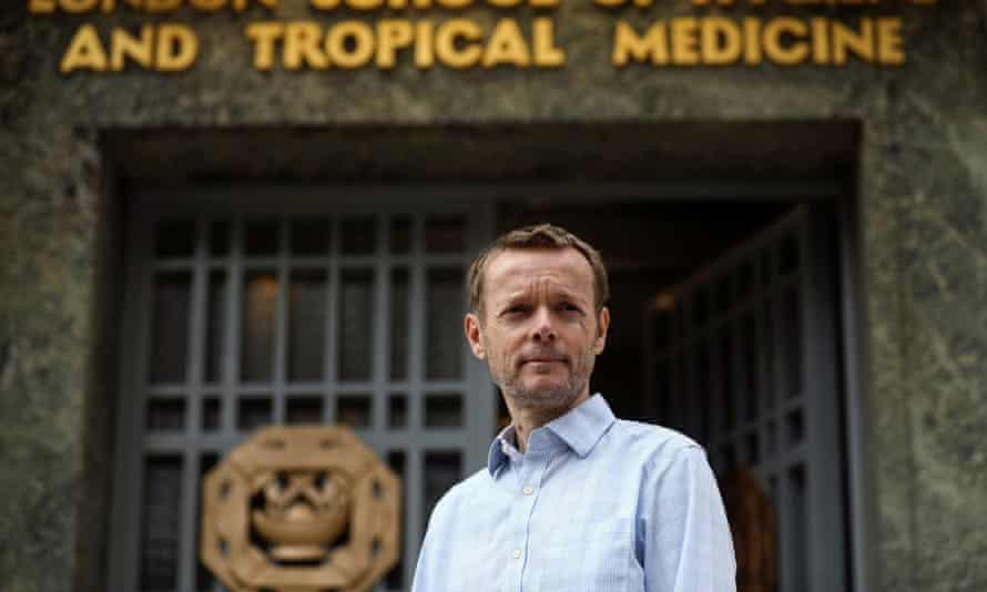 Sage member Prof John Edmunds outside the London School of Hygiene and Tropical Medicine.