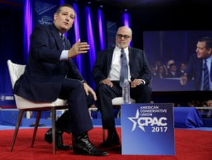 Ted Cruz speaks with Mark Levin at Cpac.