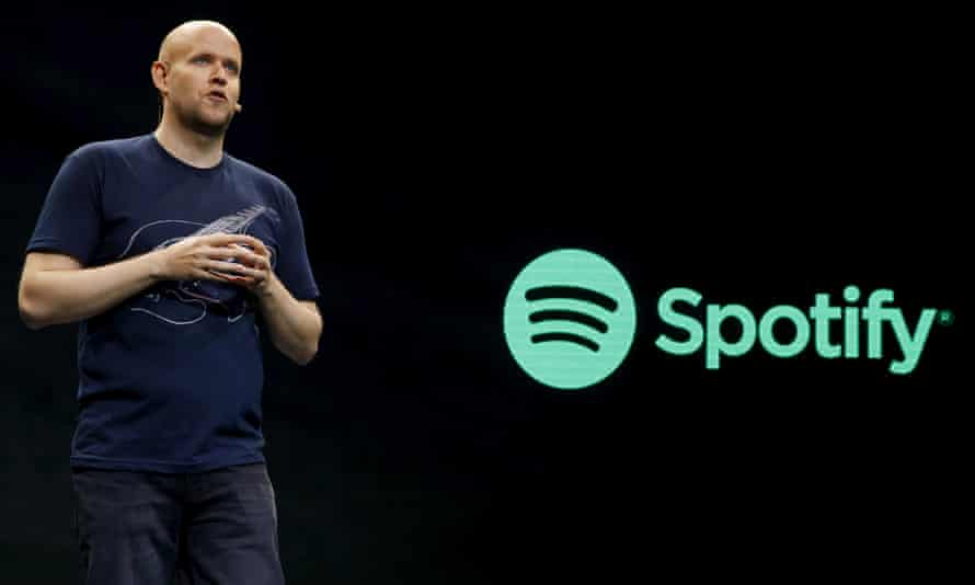 Spotify's CEO, Daniel Ek. The company says it has a user base of more than 100 million.
