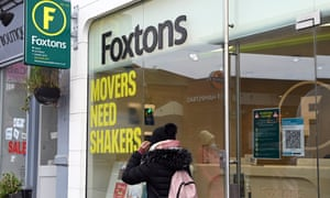 A Foxtons estate agents on the high Street in West Hampstead on January 15, 2021 in London.