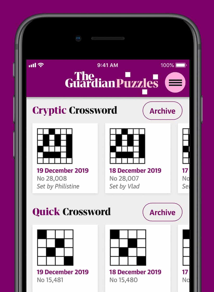 Seven crosswords and five sudoku are available.