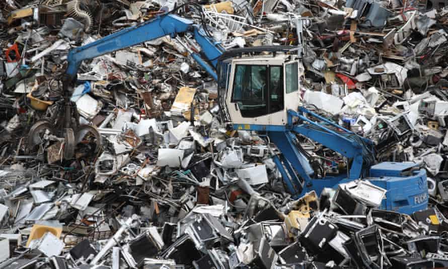 A scrap heap in Germany
