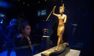 Tutankhamun: Treasures of the Golden Pharaoh at the Saatchi Gallery.