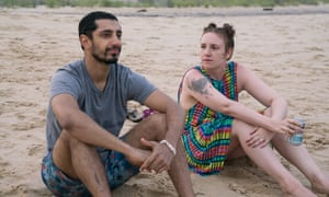 Lena Dunham, pictured with Riz Ahmed, in Girls