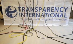 Logo of Transparency International.