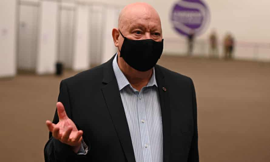 Joe Anderson at a rapid testing centre for Covid in November.