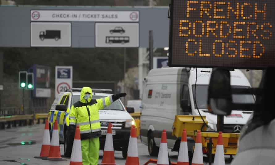 A French decision to close its ports due to a new Covid variant in the UK has deepened tailbacks at British ports.