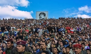Guardian photographer Sean Smith has visited Baghdad to work a number of times over the past 15 years. This photograph, from 2003, shows the last official football match before the invasion.