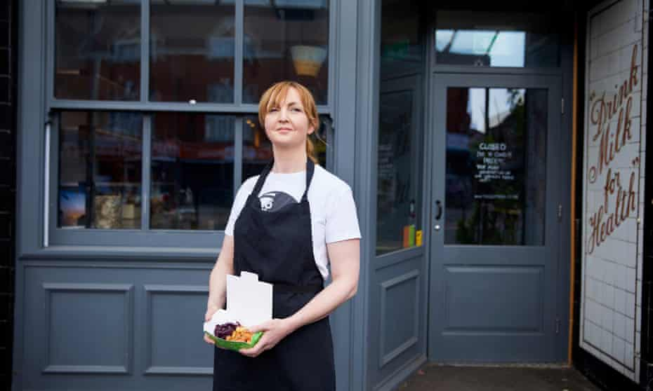 Chef Mary-Ellen McTague at her restaurant, the Creameries, in Chorlton, south Manchester.