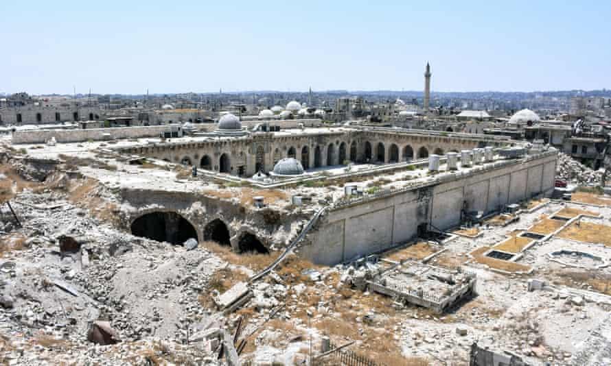 Umayyad Mosque in Aleppo, Syria, in 2017.