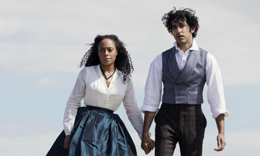 Rosalind Eleazar and Dev Patel in The Personal History OF David Copperfield directed by Armando Iannucci.