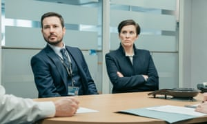 Sitting uncomfortably? Steve Arnott (Martin Compston) and Kate Fleming (Vicky McClure) in series five.