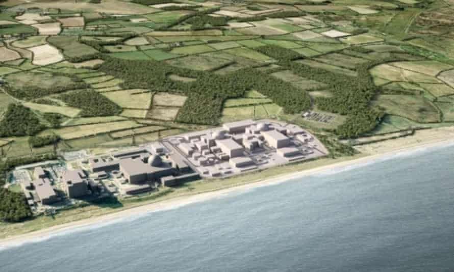 Proposed Sizewell C nuclear energy plant on the Suffolk coast.