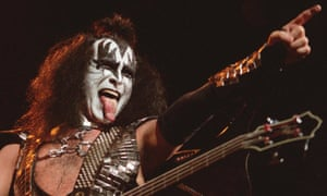 Gene Simmons, the bass guitarist in the band Kiss