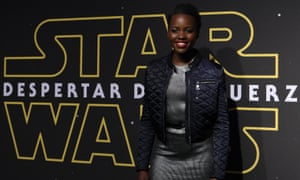 Lupita Nyong'o promoting Star Wars: The Force Awakens in Mexico