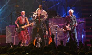 David Bowie on stage at the Bercy in Paris in October 2003.